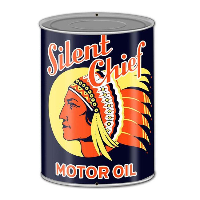 Silent Chief Oil Sign