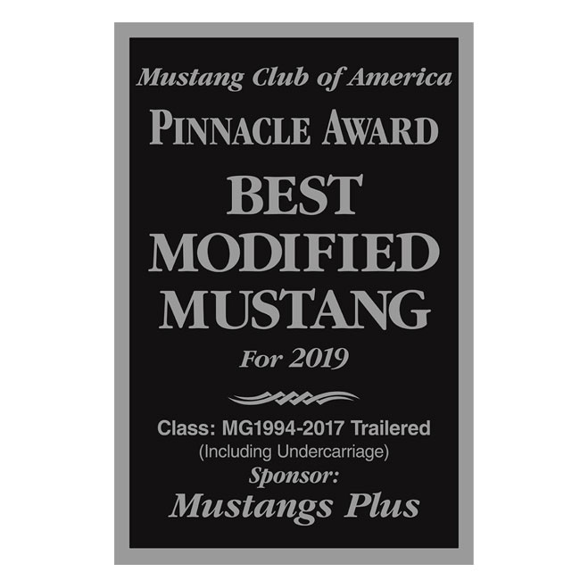 Custom Designed Sign For Mustang Club Of America Show