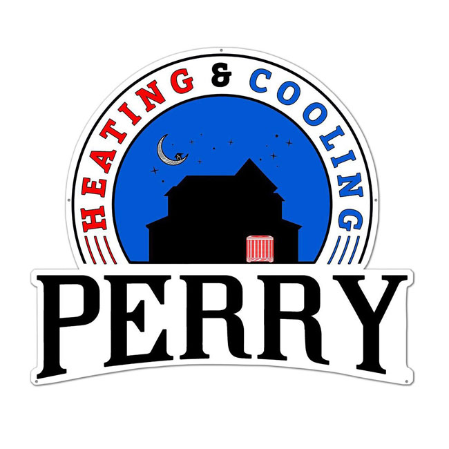 Custom Designed Sign For Perry Heating & Cooling Company
