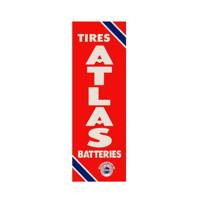 Atlas Standard Oil Tire Sign