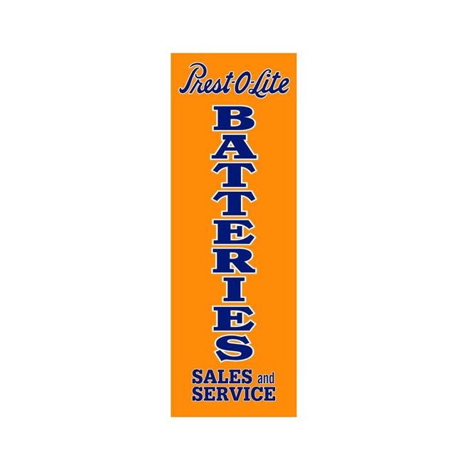 Pres-O-Lite Batteries Sign