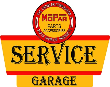 Mopar Service Garage Sign
