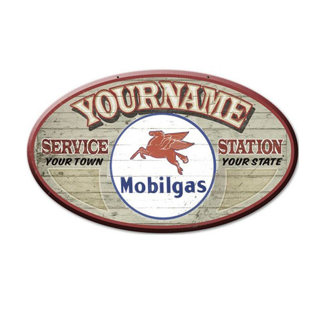 Mobil Gas Station Custom Personalized Sign
