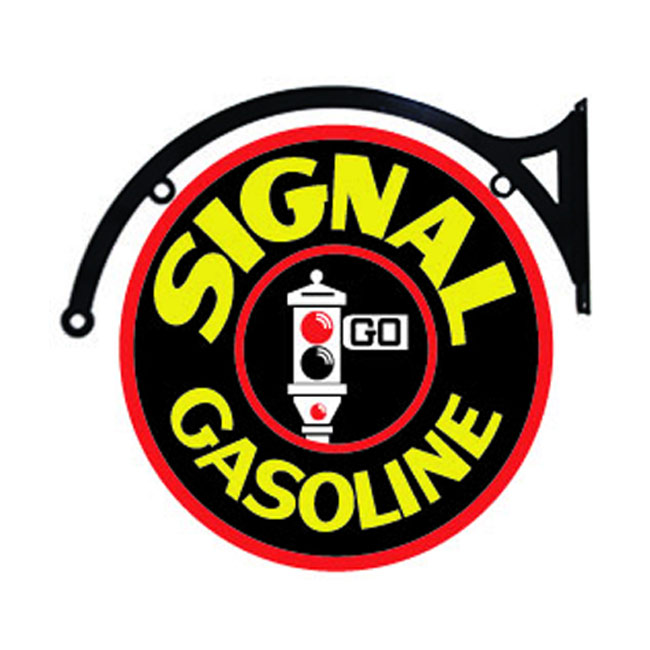 Signal Gas Hanging Sign - Double Sided