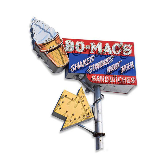 Bo Macs Drive In Sign
