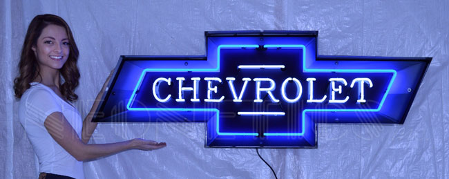 Chevrolet Bow Tie Marquee Neon