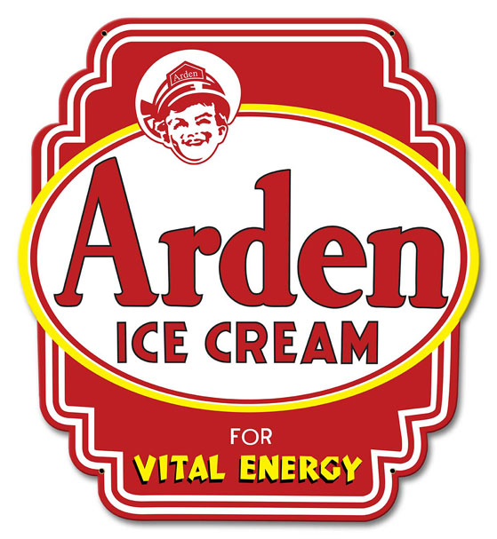 Arden Ice Cream Sign