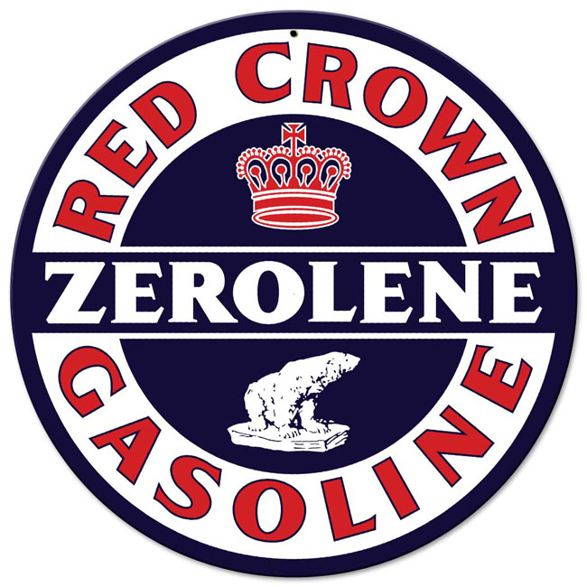 Red Crown Zerolene Sign