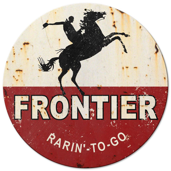Frontier Gas Sign Rarin To Go