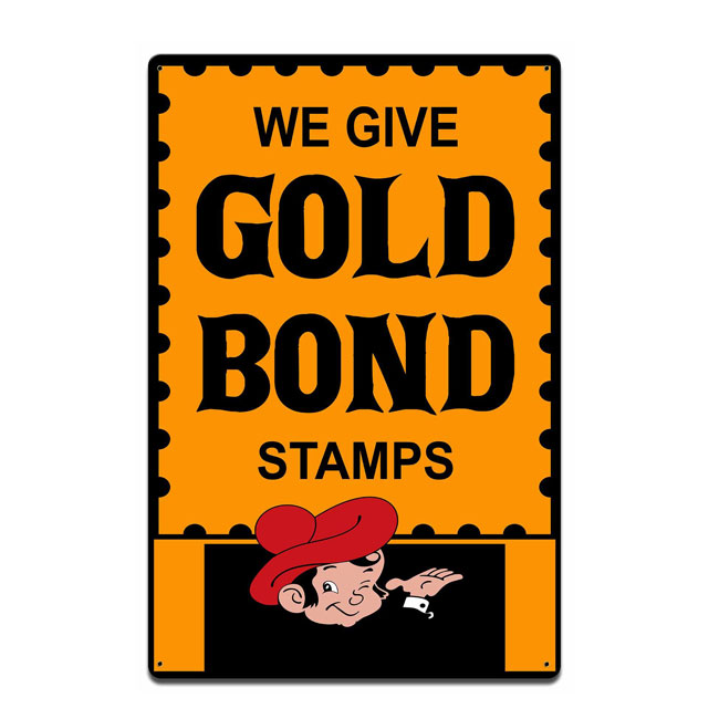 Gold Bond Stamps Sign