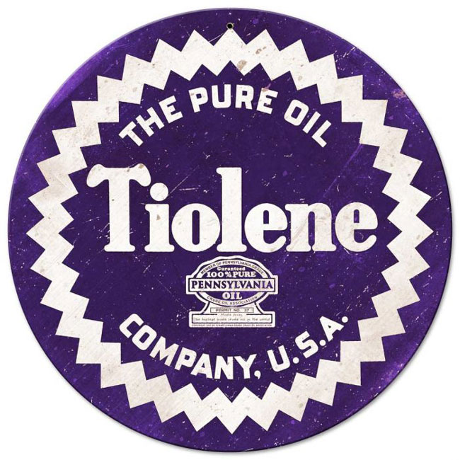 Tiolene Oil Sign