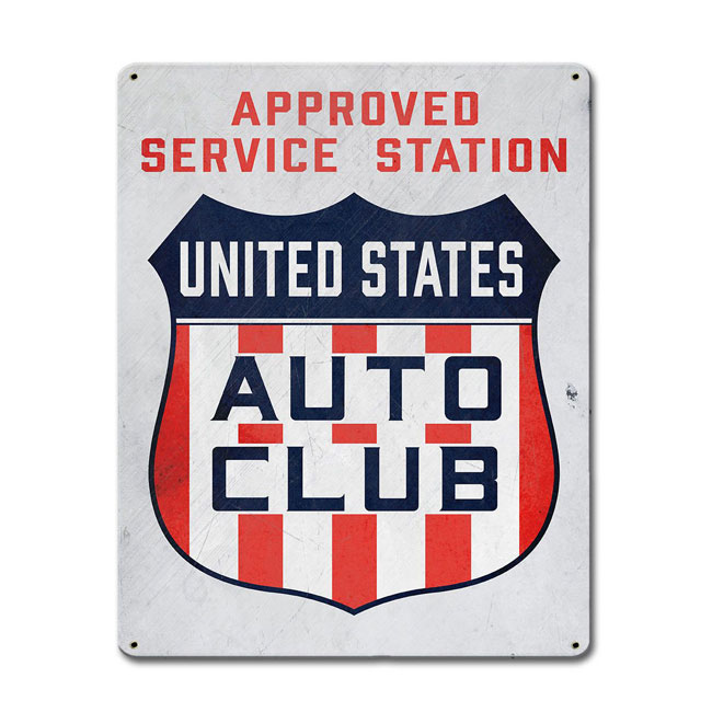 United States Auto Club Approved Service Station Sign