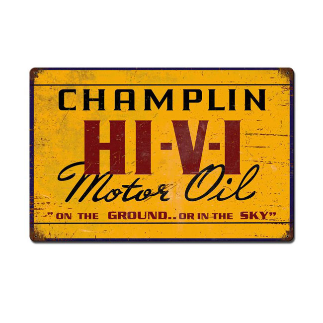 Champlin Hi Vi Motor Oil Sign