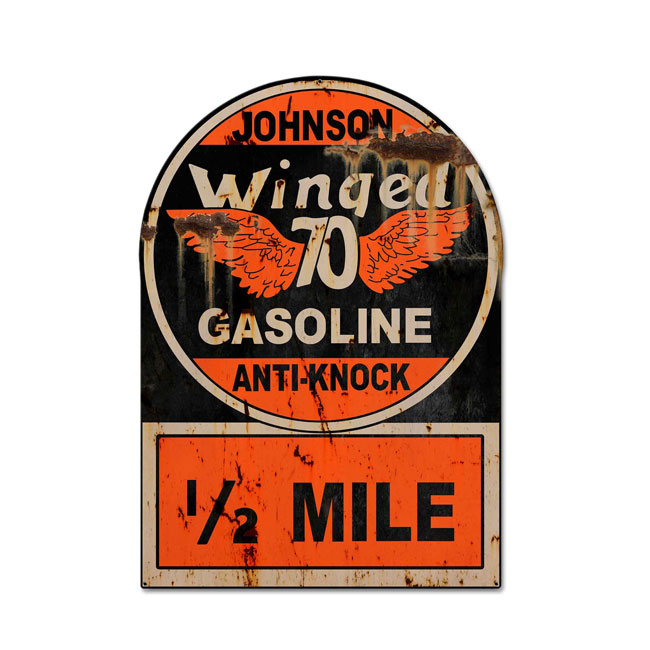 Johnson Winged 70 Gas Sign