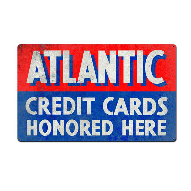 Atlantic Credit Cards Sign