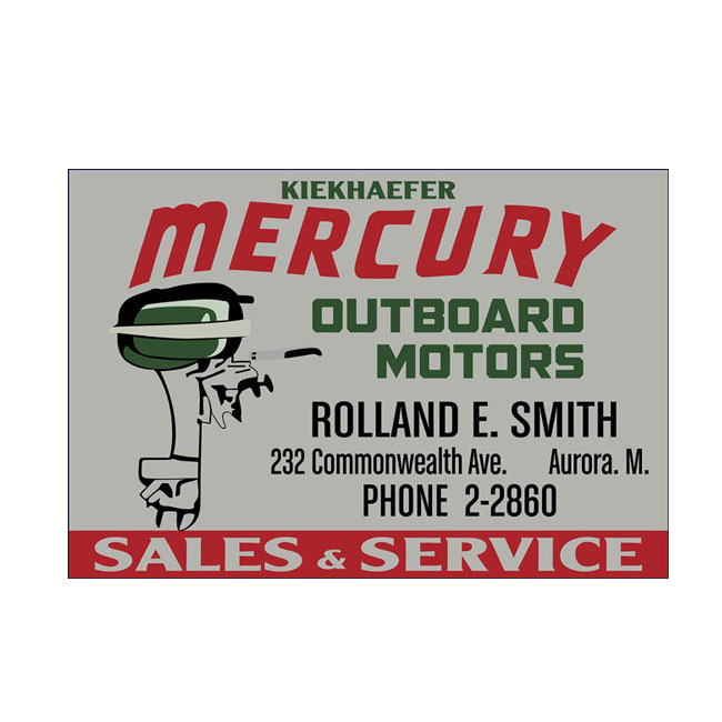 Mercury Outboard Dealer Sign