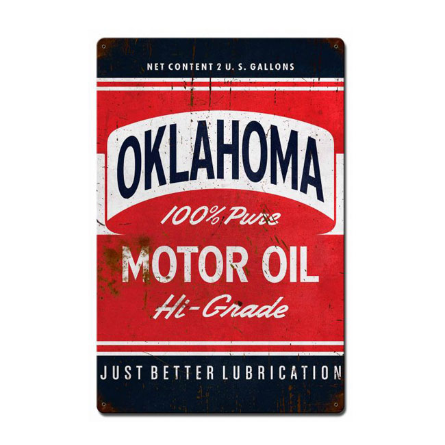 Oklahoma Motor Oil Sign