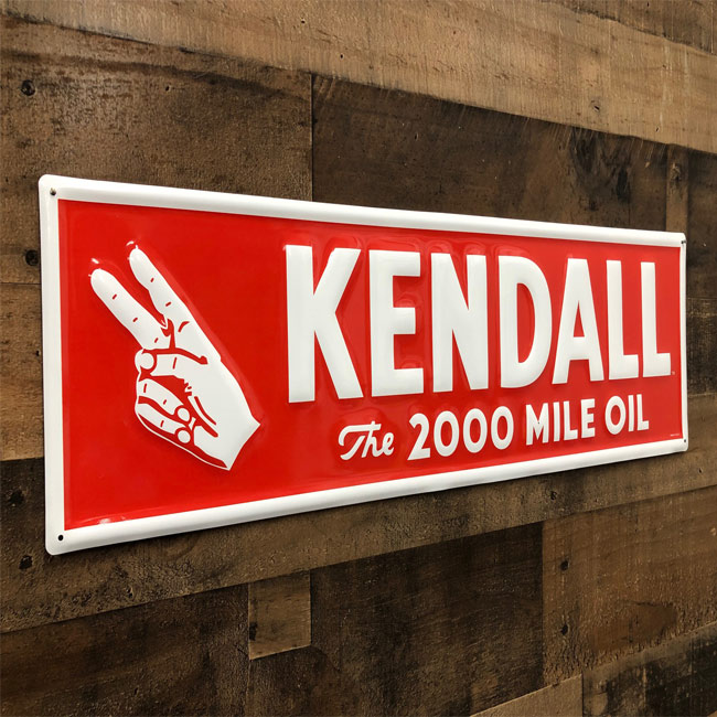 Kendall The 2000 Mile Oil Sign