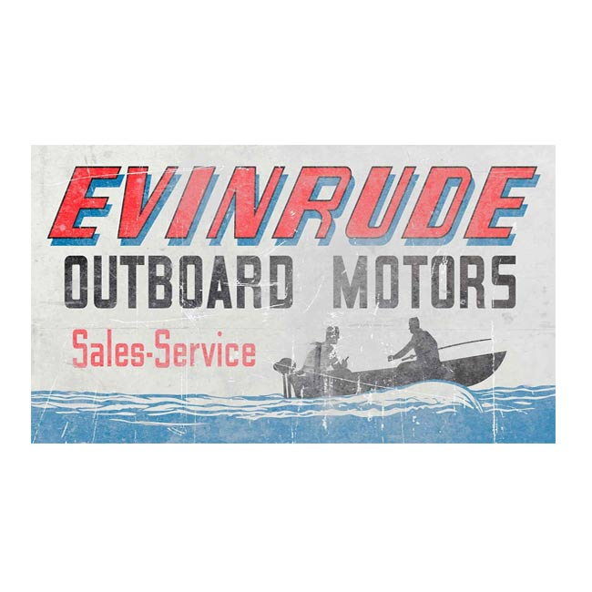 Vintage Evinrude Motors Dealer Sign