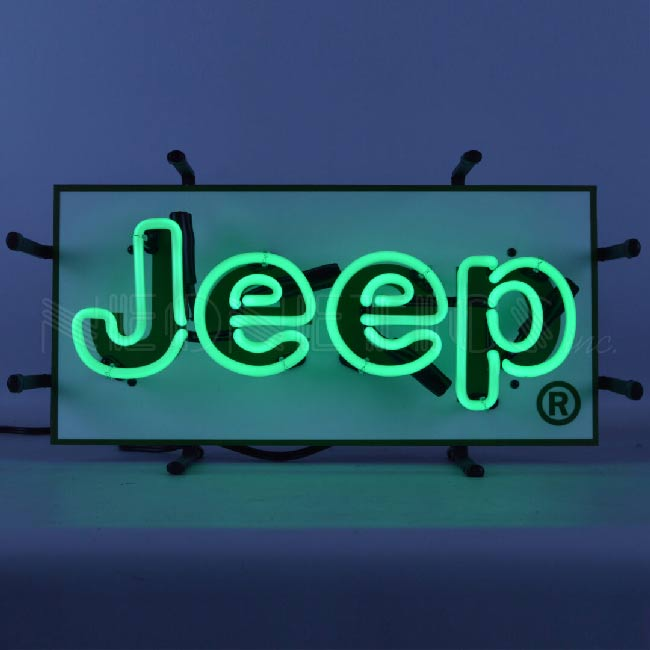 Jeep Neon Dealer Sign