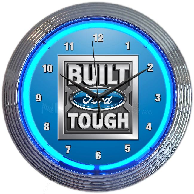Ford Tough Neon Clock